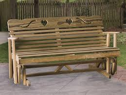 outdoor glider bench vintage