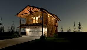 sunrise pines log home