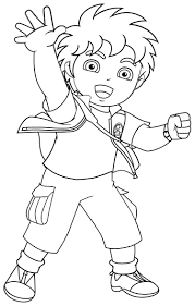 Awesome Diego Free Coloring Pages Printable