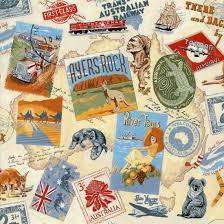 Australian Themes Ayres Rock Sydney Harbour Cream Cotton Quilting ... & Australian Themes Ayres Rock Sydney Harbour Cream Cotton Quilting Fabric ... Adamdwight.com