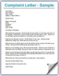 Show Me How To Write A Letter Of Complaint