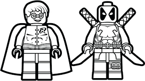 Baby Deadpool Coloring Pages New Line Coloring Page Free To Print