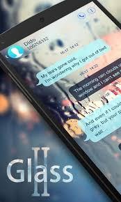 go sms pro glass ii theme 1 1 screenshot 1