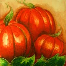 Small Pumpkin Painting October Is Here Pumpkins Painting 5 X 5 By Cyra Cancel For