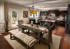 craftsman lighting dining room. craftsman dining room with hardwood floors french doors trestle table colorbound lighting