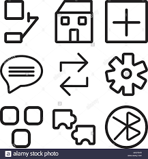 Set Of 9 Simple Editable Icons Such As Tooth Puzzle Layout
