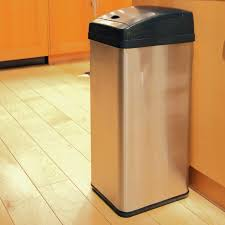 Retro Trash Cans Kitchen Trash Cans For The Kitchen Trash Can Brushed Stainless Steel