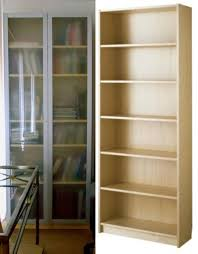 ikea billy bookcases birch veneer w frosted glass