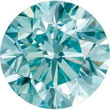 Loose Enhanced Aqua Blue Diamond Melee Round Shape Si