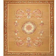 large antique french aubusson carpet for