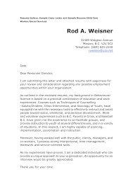 Child Care Cover Letter For Resume Http