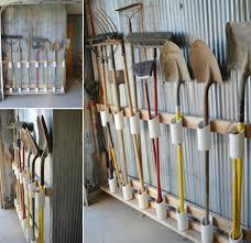 pvc garage tool organizer diy tutorial