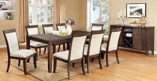 9 piece forbes i dining set in gray finish foa cm3435