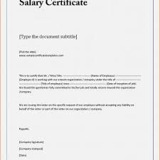 Sample Format For Salary Certificate New Inspiration Sample Salary