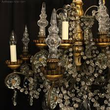 italian giltwood 8 light antique chandelier antique lighting antique italian chandeliers