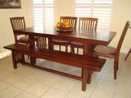 dining table with bench seats