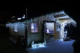 Led Eisregen Lichterkette 480 Led Kaltweiß Led 12 M Weihnachten
