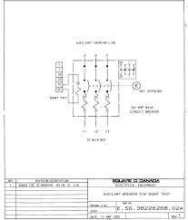 auxilary breaker c w shunt trip tm 5 Shunt Breaker Wiring Diagram Shunt Trip Breaker Installation