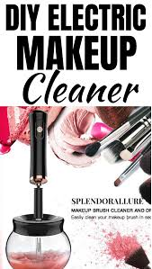 your own diy makeup brush cleaner use this machine to clean your brushes in seconds no need to wait hours or a day