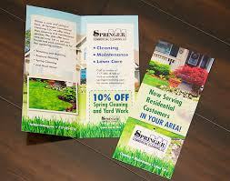 Brochure Mailer Springer Cleaning Bi Fold Brochure Mailer Mac Design