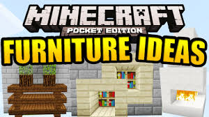 Minecraft Kitchen Furniture Minecraft Pe Furniture Ideas Tutorial Youtube