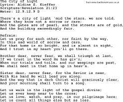 City Of Lights Song Lyrics Good Old Hymns The City Of Light Lyrics Sheetmusic