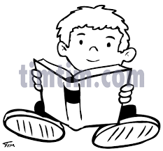 free drawing of books boy 2bw from the