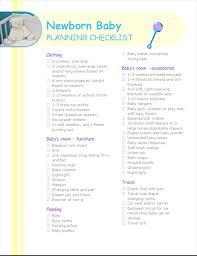 Newborn Baby Planning Checklist