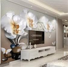 Großhandel Gewohnheit 3d Tapete 3d Luxus Gold Jewel Phalaenopsis