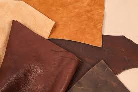 a variety of top grain and split leather hides
