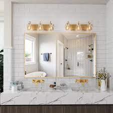 Modern Gold 3 Light Glam Bathroom Vanity Lights Wall Sconces For Powder Room L22 X H8 X E7 Overstock 32046182
