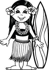 Hawaii Coloring Pages Inspirational Hawaii Coloring Pages Surfer