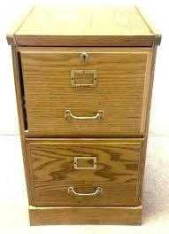Maple File Cabinet 2 Drawer Locking N8