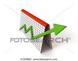 Profit Graph With Green Arrows Stock Illustration