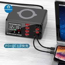 100W 8 Cổng USB Quick Charge 3.0 Adapter HUB Sạc Không Dây Đế Sạc PD Sạc  Nhanh Cho IPhone thiết Bị Di Động|Bộ dụng cụ điện