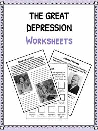 the great depression facts information worksheets school resource the great depression facts worksheets