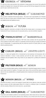 Good Resume Fonts Mesmerizing 60 Infographics On How To Mix Fonts Like A Pro Creative Market Blog