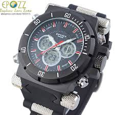 online get cheap rectangle face watches for men aliexpress com epozz cool big face watches military large oversized sport watches rubber band black watches for men