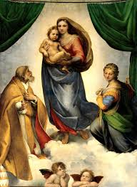 sistine madonna by raphael sanzio symbolism description famous paintings altarpiece of the virgin mary