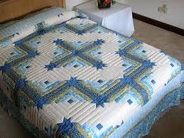 Colorado Log Cabin Quilt -- marvelous carefully made Amish Quilts ... & Blue and Yellow Colorado Log Cabin Quilt Photo 1 ... Adamdwight.com