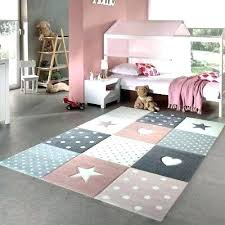 bedroom mats girls rug pink grey stars hearts check pattern soft children carpet baby hello kitty bedroom rug pink