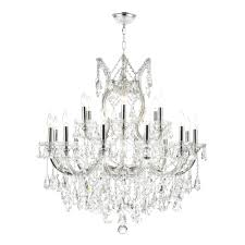 top 56 magnificent crystal chandelier home depot with worldwide lighting maria theresa light polished chrome and