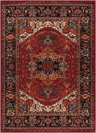 surya srp1001 serapi area rug dark red black mediterranean area rugs by rugpal