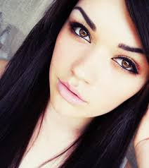 ining search terms black hair and brown eyes