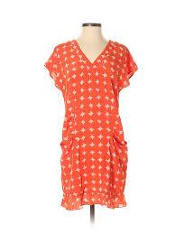 Bimba Y Lola Size Chart Details About Bimba Lola Women Orange Casual Dress Xs