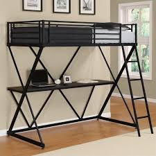 dhp x shaped metal twin loft bed with