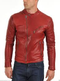 details about mens leather biker motorcycle jackets genuine lambskin winter designer su89