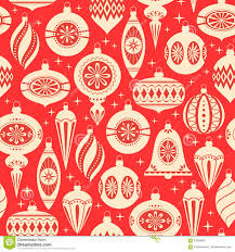 Christmas Ornament Patterns Fascinating Christmas Ornaments Pattern Stock Vector Illustration Of Vector