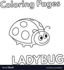 Lady Bug Coloring Sheet Cartoon Ladybug Coloring Book