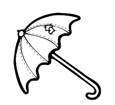 Small Picture Umbrella Coloring Pages